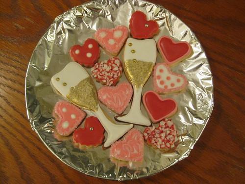 Amber & Matthew's First Anniversary Cookies