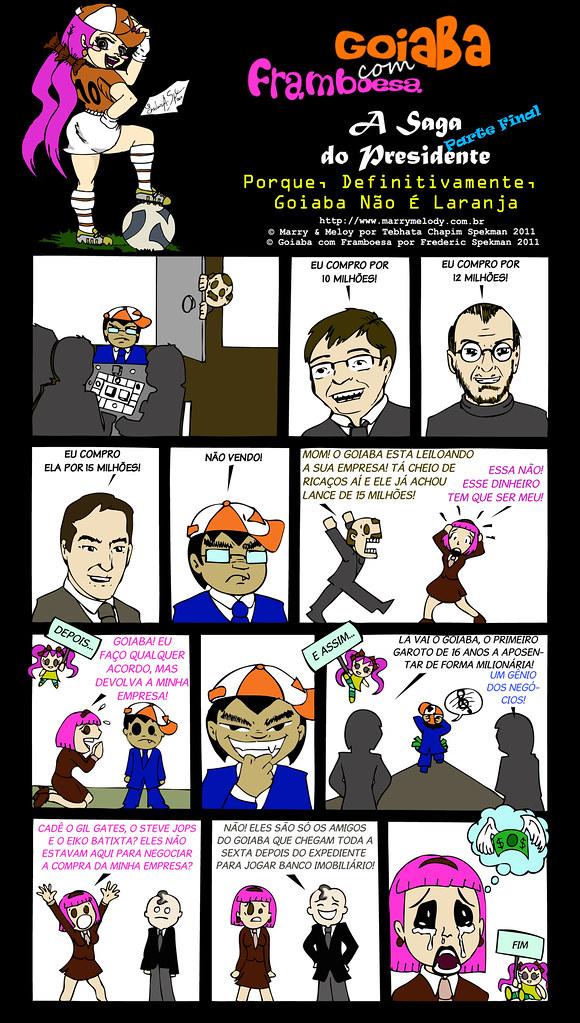 Tirinha, goiaba, framboesa, marry, melody, nerd, humor, webcomic, dinheiro, cobiça, bill gates, steve jobs, eike batista, informática, jogo, bussines