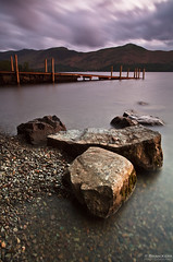 Another Time, Another Place (.Brian Kerr Photography.) Tags: longexposure sky motion mountains water clouds canon u2 landscape photography pier nationalpark rocks jetty smooth lakes lakedistrict pebbles hills cumbria derwentwater keswick cumbrian eos5dmkii briankerrphotography