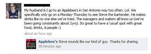 Applebee's Facebook