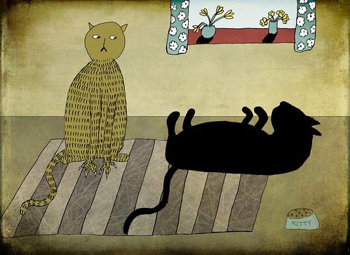 [フリー画像] グラフィックス, イラスト, 動物(イラスト), 猫・ネコ, 201106140500