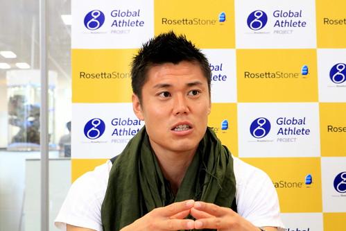 川島選手 Global Athlete Project