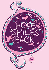Hope Smiles Back (DimitraTzanos) Tags: world life africa love thread illustration last digital zoe cards hope book design amazon media tears mail drawing quote south internet some www social blogger email romance greece doodle virtual emoticons stuff dreams blogging scribbles online romantic writer illustrator relationships eleni charms affair handdrawn facebook dies viral heartbroken stumbleupon somestuff dimitra impersonal twitter hopedieslast    tzanos  tzanou tzanoy hopegr