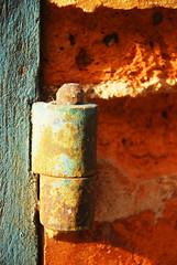 J23 Old gong (Josiane D.) Tags: door wall wood brickred gong shutter
