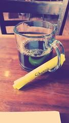 Day 53 Of 365 Days Of Coffee (SarahJDhue) Tags: louisianafilter sarahjdhue sarahjdhuephotos samsung galaxys6 cellphone coffee coffeeshop maevas alton il illinois highlighter yellow sharpie 365daysofcoffee 365 2017 challenge photo editing monsters 53