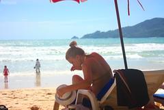 Beautiful on the beach (Puykamo@Tai) Tags: trip travel sea portrait sky sexy beach beautiful wonderful thailand model tour candid great fave bikini thai phuket shape patongbeach  puykamo