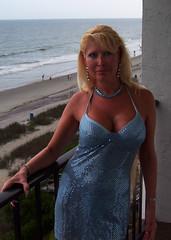 Blue Dress (California Will) Tags: blue sexy sc beauty myrtlebeach dress femme southcarolina blond blonde belle michele gown elegant cleavage bellezza godess decollete mymuse eoshe lgante