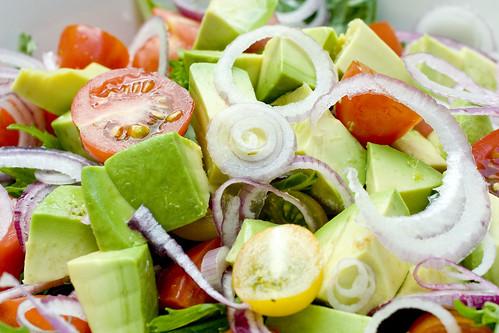 Mizuna Tomato Avocado Salad 3