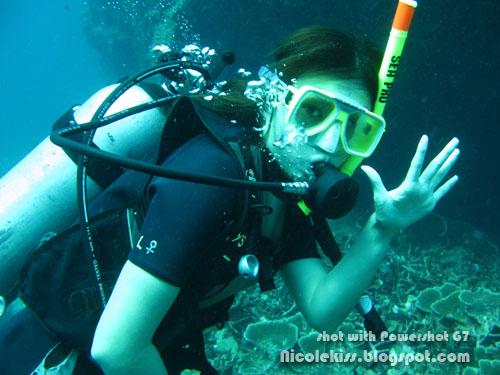 nicolekiss underwater in tioman
