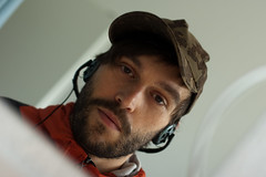 product me (Jitter Buffer) Tags: portrait selfportrait blur me face smiling self mouth ego hair myself beard nose mirror eyes bokeh jacket cap headphones ph0t0 sennheiser cleptomanicx
