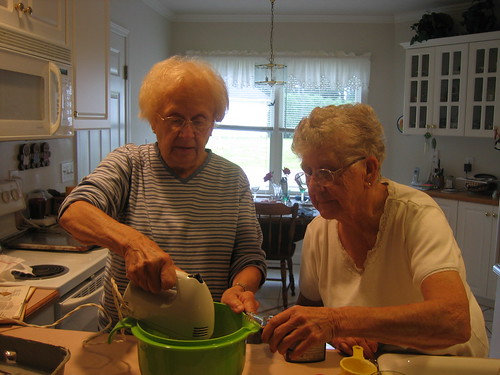 Old Ladies of Waterville, Maine making Whoopie Pies
