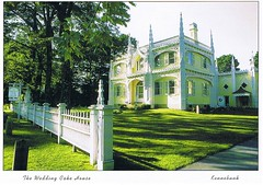 Wedding Cake House Maine postcard - available