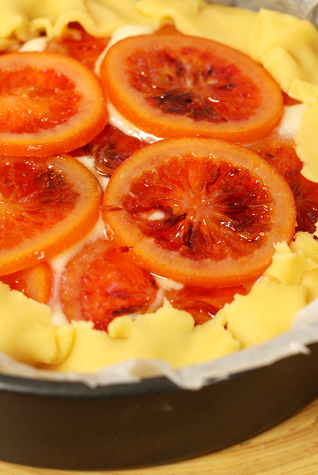 candied blood orange tart - uncooked© by Haalo