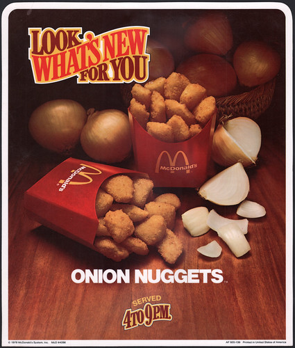 Jason Liebig's scanned ad for onion nuggets