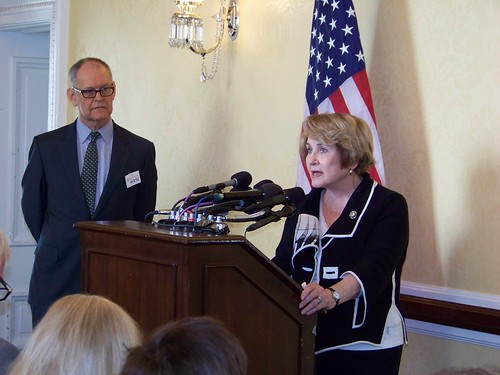 Louise Slaughter and Wendell Potter