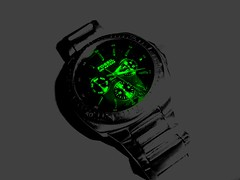 "Forget ""Fossil""....It's Time To Think Green Now!!! (SnoopiCobra) Tags: camera india green digital photography fossil photo hand image time photos steel watch strap hours wrist mins minutes seconds waterproof hrs secs waterresistant 100meters sonycybershotdscw120 snoopicobra sanoopsreedharan snoopinater"