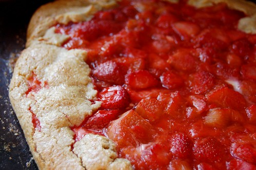 strawberry & rhubarb cheesecake tart 2