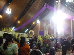 Church during Palm Sunday.
