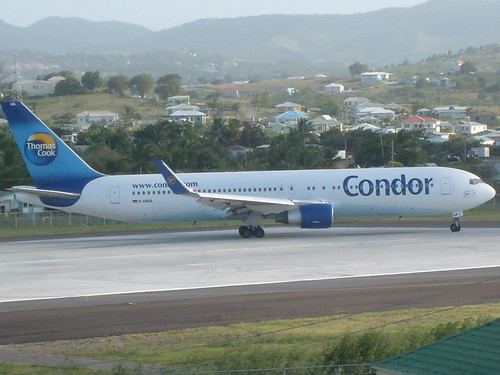V.C Bird International Airport Thomas Cook Condor Boeing 767-300ER ...