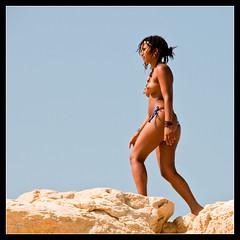 Nubia (scarabaeus sacer) Tags: summer chica agosto verano 2009 almera rocas rodalquilar platinumheartaward a3b jatm64