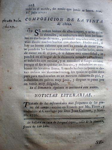 013-Semanario económico compuesto de noticias practicas curiosas y eruditas…1778-Juan Biceu