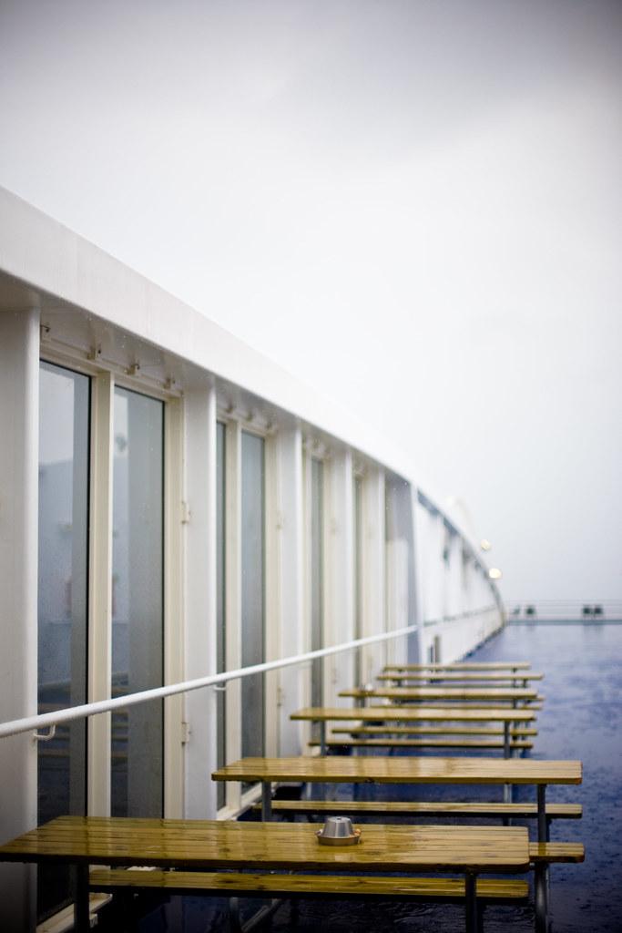 Ship Deck Rain Wet Ashtray Smoke Table