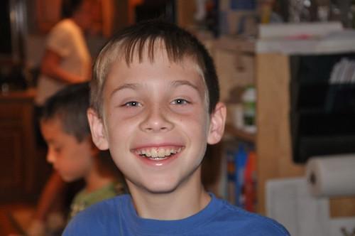 Benton smiling