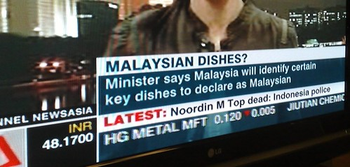 Malaysian Tourism minister wants to claim dishes as Malaysian