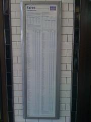 TfL fares poster