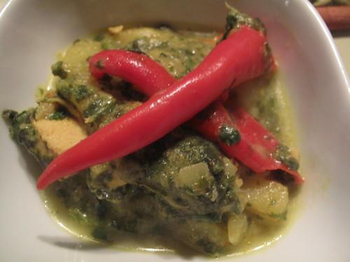 Saag chicken stew