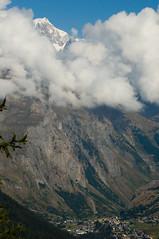 Sotto l'immenso... (Valle della Thuile, Valle d'Aosta, Vallée d'Aoste) (Sisto Nikon - CLICKALPS PHOTOGRAPHER) Tags: morning panorama mountain mountains alps nature clouds montagne trekking landscapes waterfall nikon nuvole hiking natura hike agosto monte ao sentiero alp alpi paesaggi montagna paesaggio monti montebianco mattina valledaosta cascata panorami lathuile sisto camminare escursionismo escursione camminata lajoux aostavalley sentieri valléedaoste lacduglacier alpigraie naturalistica sisti valledellathuile cascatedelrutor ghiacciaiodelrutor montebiancosmassif massiciodelmontebianco rifugiodeffeys lathuilevalley