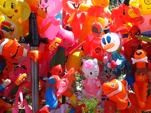 Colourful balloons in Sucre