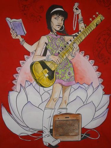 Saraswati (detail)