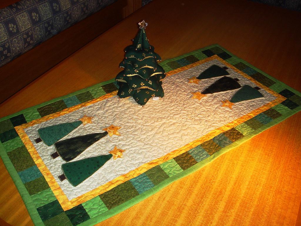Trilhos de mesa em patchwork quilts