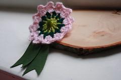 crocheted brooch (super ninon) Tags: brooch crochet award prize ribbon accessories