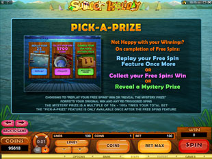 free Summer Holiday gamble bonus game