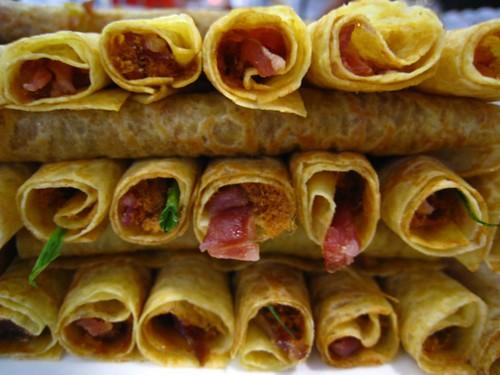 Crepes with Bak Kwa & Pork Floss
