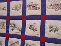tow truck quilt