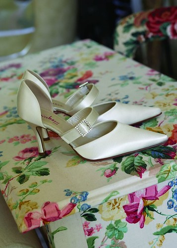 Elegant shoes for the wedding day.