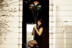 day ninety. (geewillikersjett) Tags: white house balloons tights haunted creepy abandon ghosthouse iphotooriginal westartedhearingnoisesandranforourlifehahaha