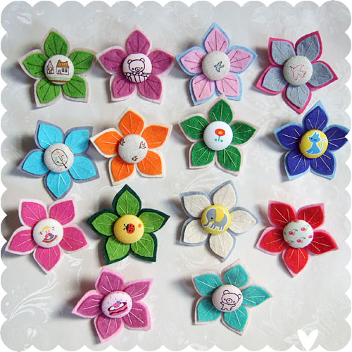 Japanese Fabric Brooches
