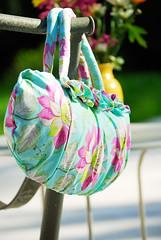 Firenze Flowers (Art Gallery Fabrics) Tags: floral sewing patterns fabric purse chic elegant handbag artgalleryfabrics patriciabravo