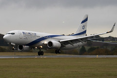 4X-EKO - 30287 - El Al Israel Airlines - Boeing - 737-86Q - Luton - 091105 - Steven Gray - IMG_3608