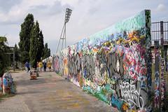 Berlin Wall Memorial Park Only 20 Years Later (N!els) Tags: berlin wall germany memorial grafitti stadium utata nomansland prenzlauerberg mauer mauerpark bif denkmal friedrichludwigjahn sportspark canonef24105mmf4lisusm 40d