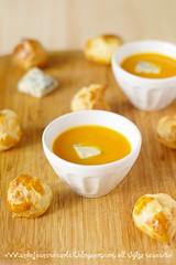 Soupe potiron, gougères gorgonzola