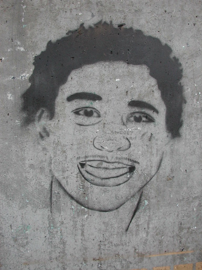 RIP Gary King Jr Stencil Graffiti 54th and MLK.