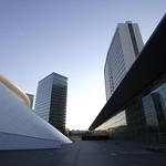 Luxembourg, place de l'Europe avec vue sur la Philharmonie Luxembourg
