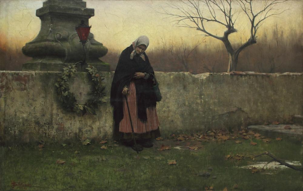 Jakub Schikaneder, All Souls' Day 1888