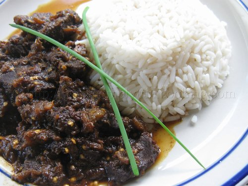 Stew eggplant with Beef