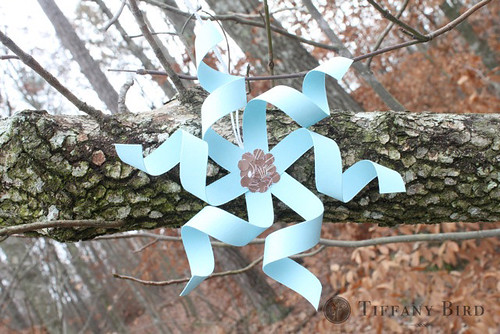 twirly snowflake outside